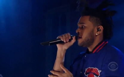 The Weeknd ospite al Late Show With David Letterman