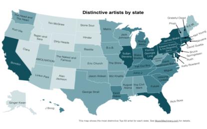 Ogni stato americano ha la sua band preferita