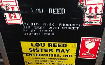 All'asta su eBay alcuni strumenti di Lou Reed