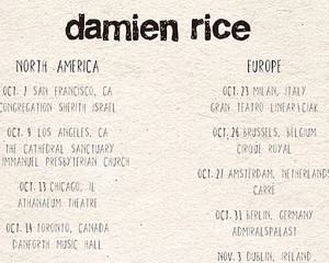 Unica data italiana per Damien Rice a ottobre