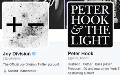 I New Order aprono un account Twitter per i Joy Division, senza dirlo a Peter Hook