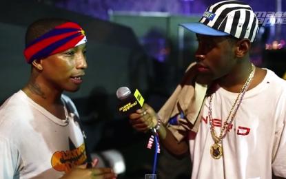 Guarda Pharrell intervistato da Tyler, the Creator al festival degli Odd Future