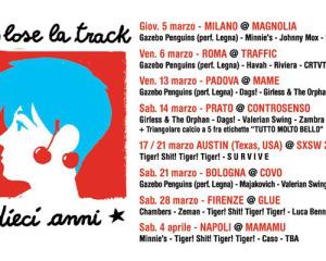 A marzo tour italiano per i 10 anni di To Lose La Track