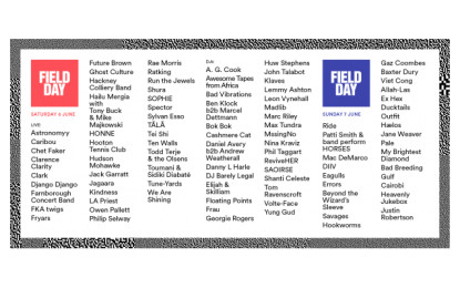 Londra: Road to Field Day o, 7 band da ingaggiare di più ai festival