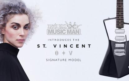 St. Vincent ha disegnato una chitarra per Ernie Ball Music Man