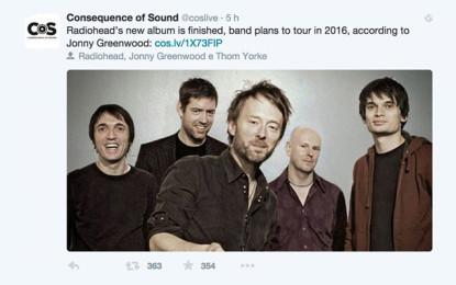 Il cazziatone di Thom Yorke a Consequence of Sound (niente album e tour per i Radiohead, per ora)
