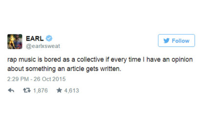 Earl Sweatshirt teme che Drake sfrutti i rapper emergenti