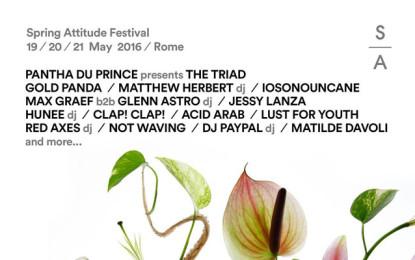La line up di Spring Attitude 2016