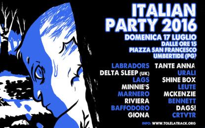 I dettagli dell'Italian Party 2016 di To Lose La Track