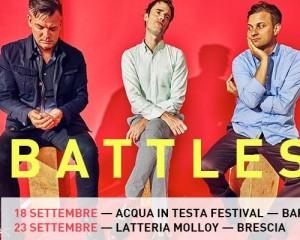 I Battles in Italia per due date a settembre