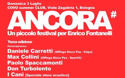 I dettagli di Ancora – Un piccolo festival per Enrico Fontanelli, a Bologna