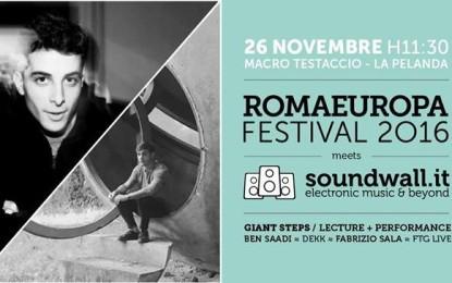 Romaeuropa e Soundwall presentano Giant Steps