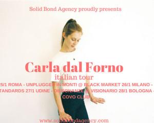 Contest: Vinci due biglietti per Carla dal Forno a Milano e Bologna