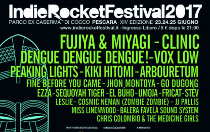 La line up dell'IndieRocket Festival 2017