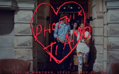 Phoenix: il video di Ti Amo girato al teatro Bibiena di Mantova