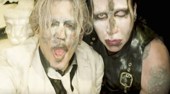 marilyn manson il video di say10 con johnny depp rumore. Black Bedroom Furniture Sets. Home Design Ideas