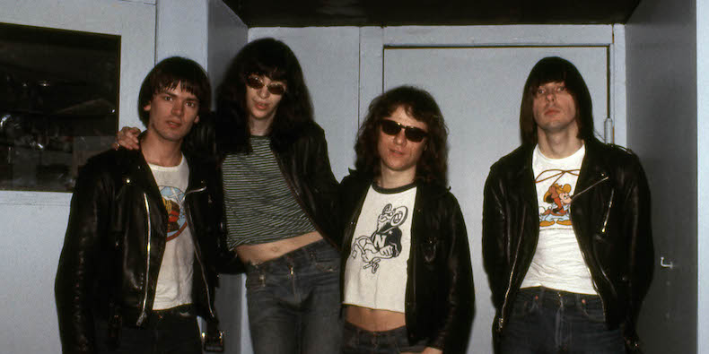 Photo of Tommy RAMONE and Joey RAMONE and Dee Dee RAMONE and RAMONES