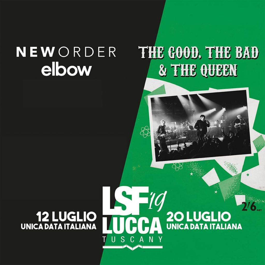 New Order, The Good The Bad & The Queen ed Elbow al Lucca Summer Festival