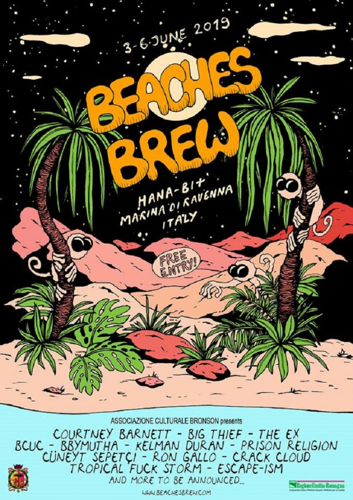 Annunciata la line-up del Beaches Brew 2019